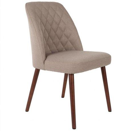 LEF collections Stuhl Bali beige braun Textil Holz 48x56x85cm