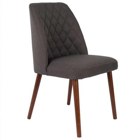 LEF collections Stoel Bali zwart textiel hout 48x56x85cm