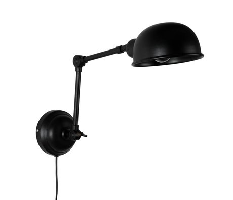 LEF collections Wall light Brooklyn black metal 15x64x18cm