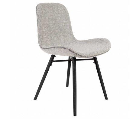 LEF collections Chaise Memphis gris clair textile bois 50x55x80,5cm