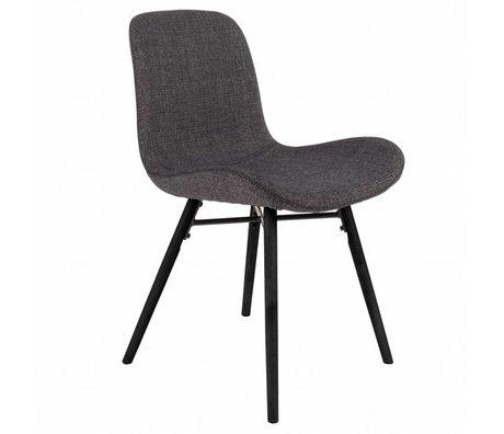 LEF collections Chaise Memphis anthracite gris textile bois 50x55x80,5cm