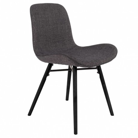 LEF collections Chair Memphis anthracite gray textile wood 50x55x80,5cm
