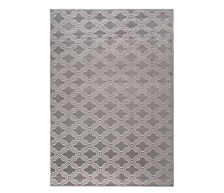 LEF collections Vloerkleed Sydney grijs textiel 160x230cm