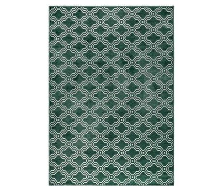 LEF collections Vloerkleed Sydney groen textiel 160x230cm
