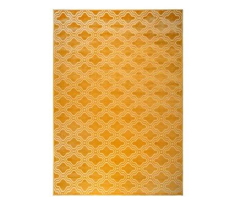 LEF collections Tapis Sydney jaune ocre textile 160x230cm
