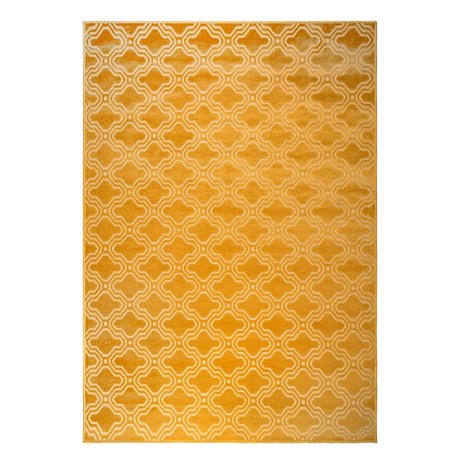 LEF collections Rug Sydney ocher yellow textile 160x230cm