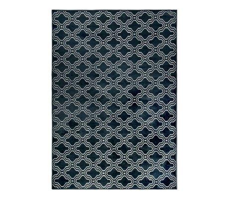 LEF collections Tapis Sydney bleu nuit textile 160x230cm