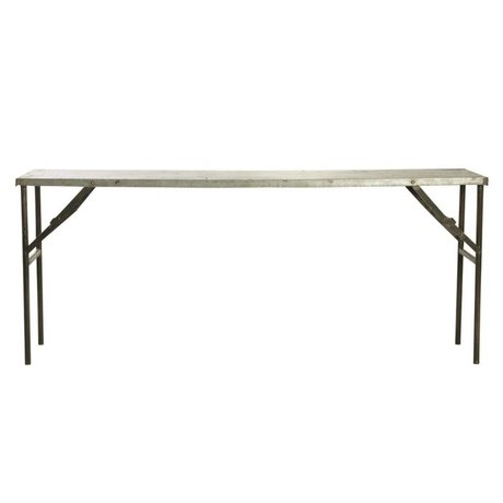 Housedoctor Table Market metallic gray 183x46x75cm