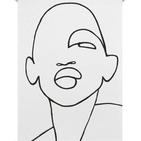 Paper Collective Poster Faberge schwarz aus weißem Papier 50x70cm