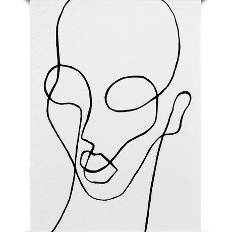 Paper Collective Poster Shapelito schwarz aus weißem Papier 50x70cm