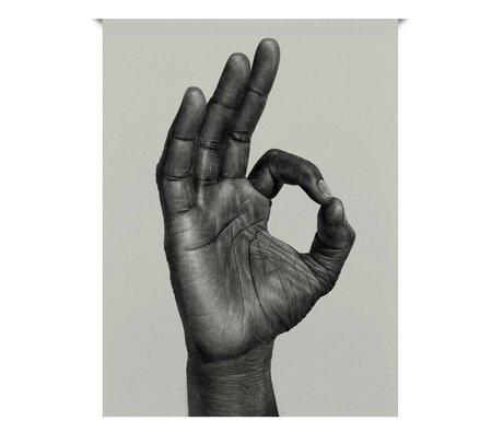 Paper Collective Poster OK schwarz aus weißem Papier 30x40cm