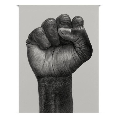 Paper Collective Poster Raised Fist black off white paper 30x40cm