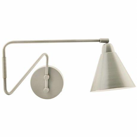 Housedoctor Wandlamp Game metaal grijs/wit Ø15x13x70cm schade