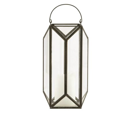 Housedoctor Cubix lanterne sourde chandelier antique 20x20x42cm noir