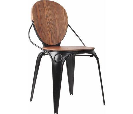Zuiver Dining chair Louix natural antique black 50x57x84,5cm damage