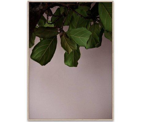 Paper Collective Affiche feuilles vertes papier vert 50x70cm