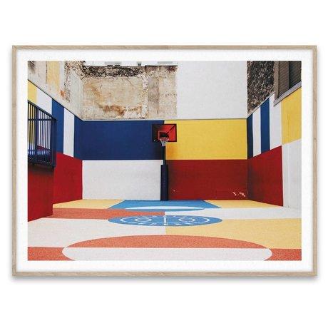 Paper Collective Poster Villes de Basketball 03 papier multicolore 30x40cm