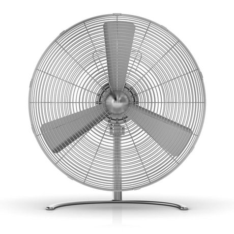 LEF collections Fan Charly Floor silver aluminum 45x48,5x28cm