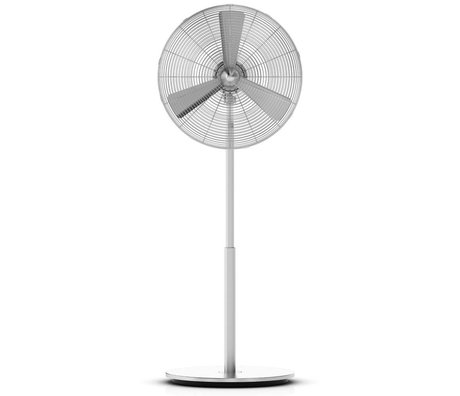 LEF collections Ventilator Charly Stand zilver aluminium 45x130x40cm