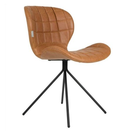 Zuiver Dining chair OMG LL camel brown imitation leather 51x56x80cm damage