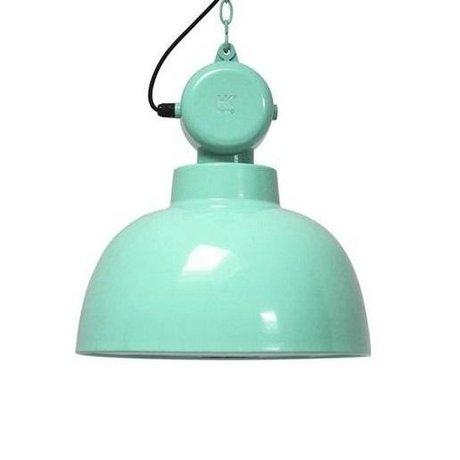HK-living Lampe suspendue Usine menthe verte GRAND métal ø50cm dégâts