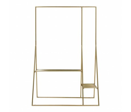 HK-living Kledingrek goud messing 125x50x190cm