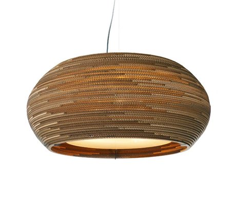 Graypants Ohio 24 pendant light brown cardboard Ø61x24cm