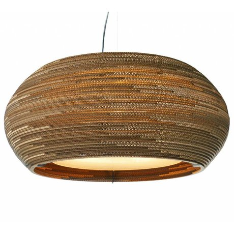 Graypants Ohio 32 pendant light brown cardboard Ø82x33cm