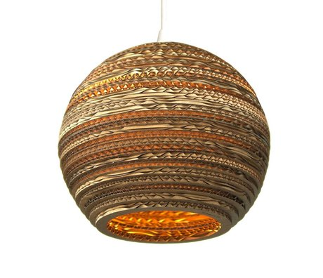 Graypants Lune pendant light 10 carton brun Ø26x22cm