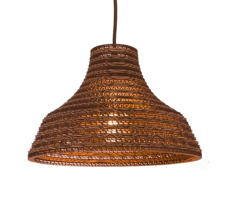 Graypants Pendant Light Work 12 brown cardboard Ø31x20cm