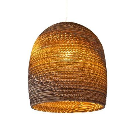 Graypants Bell pendant light 10 brown cardboard Ø27x28cm