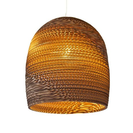 Graypants Bell pendant light 16 brown cardboard Ø38x40cm