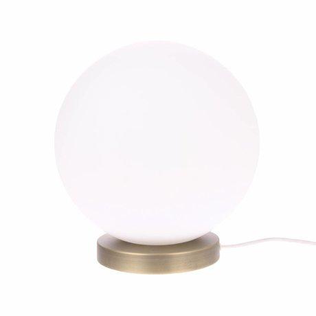 HK-living Lampe de table sphérique L verre blanc 30cm