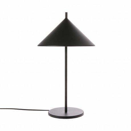 HK-living Tafellamp driehoek zwart metaal 25x25x48cm