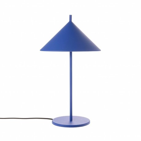 HK-living Lampe de table triangle cobalt bleu métal 25x25x48cm
