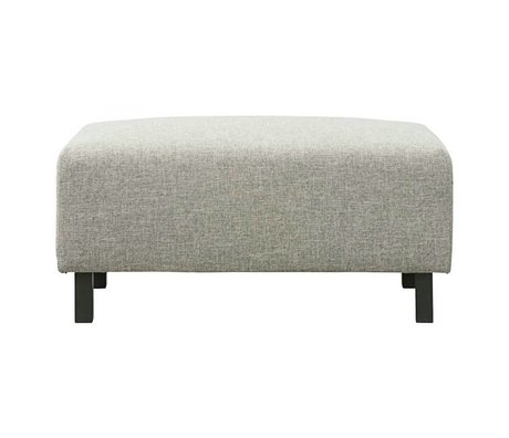 Housedoctor Pouf Box gray polyester 90x50cm
