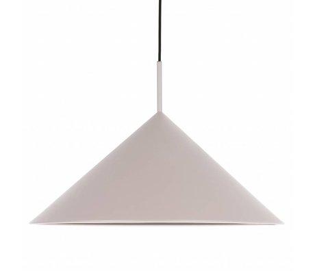 HK-living Hanglamp driehoek warm grijs metaal 60x60x39cm