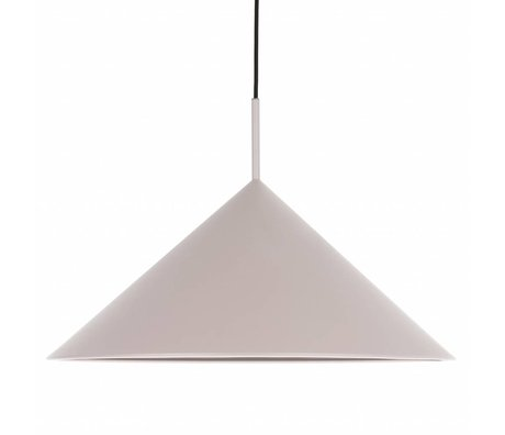 HK-living Lampe à suspension triangle métal gris chaud 60x60x39cm