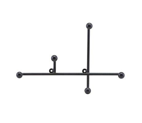 Housedoctor Porte-manteau Prea noir mat métal 28x4x18cm