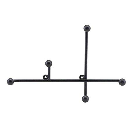 Housedoctor Coat rack Prea matt black metal 28x4x18cm