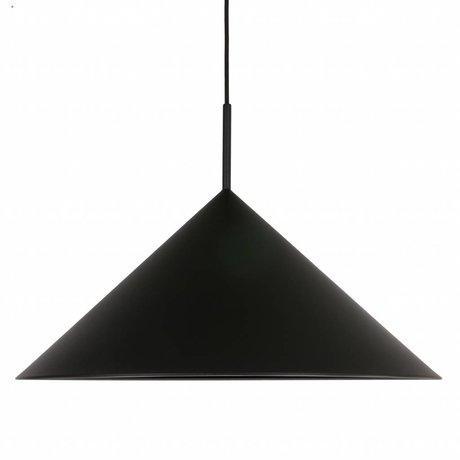 HK-living Lampe à suspension triangle métal noir 60x60x39cm