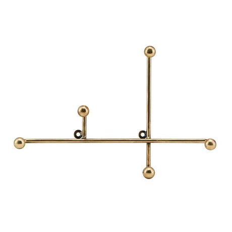 Housedoctor Coat rack Prea brass gold metal 28x4x18cm