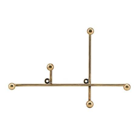 Housedoctor Kapstok Prea brass goud metaal 28x4x18cm