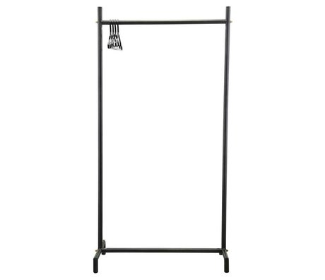 Housedoctor Clothes rack Marak black metal 90x45x175cm