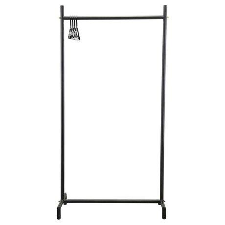 Housedoctor Kleiderständer Marak schwarz Metall 90x45x175cm