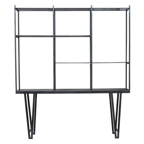 Housedoctor Box Cabinet Rawi XL black metal 210x35x250cm