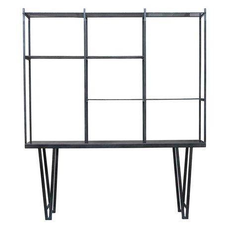 Housedoctor Box Cabinet Rawi XL noir métal 210x35x250cm