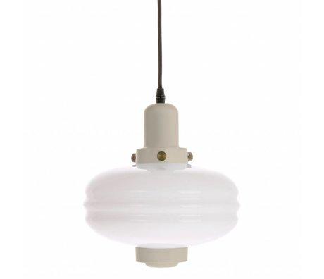 HK-living Hanging lamp M cream white glass 24x24x25cm
