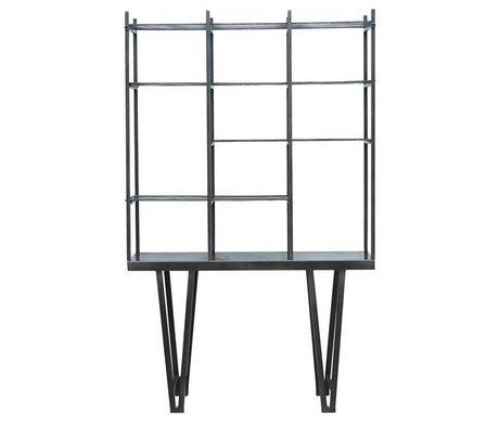 Housedoctor Boxen Rawi schwarz Metall 130x35x210cm