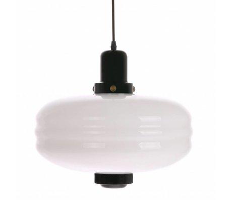 HK-living Hanging lamp L black white glass 38x38x35cm